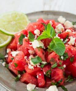 Frisse carpaccio van watermeloen