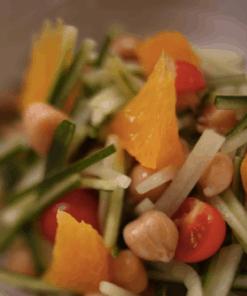 Kikkererwten salade sinaasappel