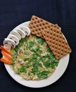 omelet met groenten