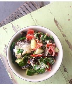 aubergine salade geitenkaas