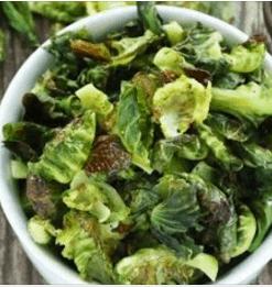 gezonde groentechips spruiten