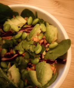 Sojabonen salade