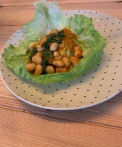 Groentenwrap met limabonen