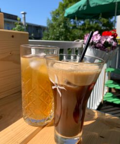 gezonde zelfgemaakte ijskoffei