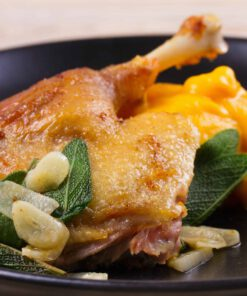 pompoenpuree met snijbiet en kip