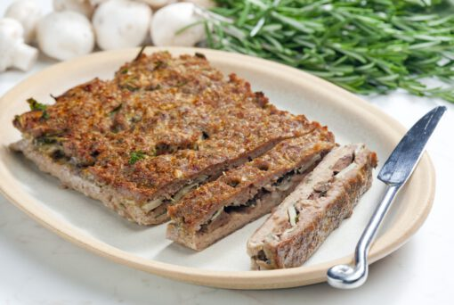 Kruidig Amerikaans gehaktbrood zonder olie