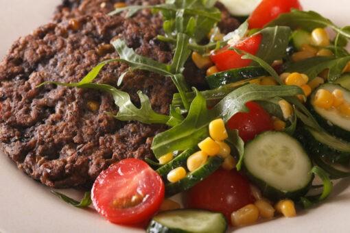 vegetarische zwarte bonen burger