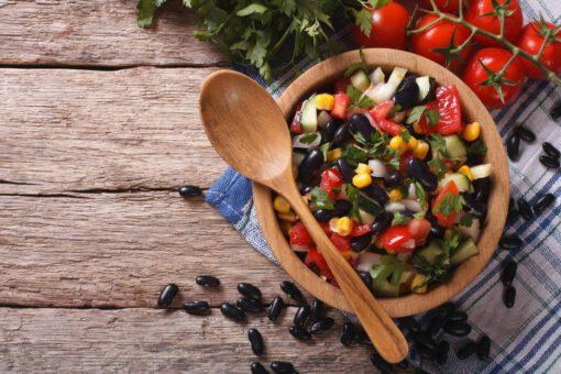 Mexicaanse zwarte bonensalade
